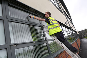 Ladder Window Cleaning by City Contract Cleaners